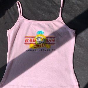 Tops - Bad Ass Coffee Rancho Mirage CA Pink Tank!